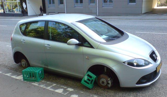 Skrællet bil