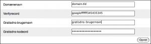 Google Apps enabler til GratisDNS.dk