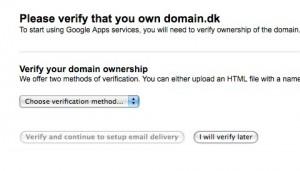Google verificer domæneejerskab 1