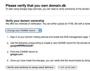 Google verificer domæneejerskab 2