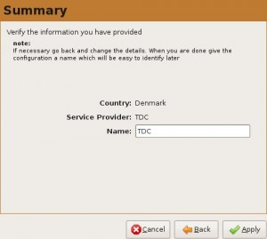 TDC Mobil Bredbånd installation step 4