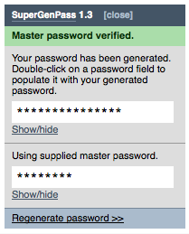 SuperGenPass bookmarklet