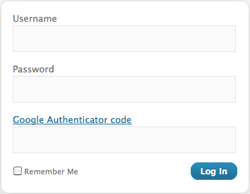 Google Authenticator enhanced login box