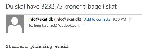 skat.dk phishing email